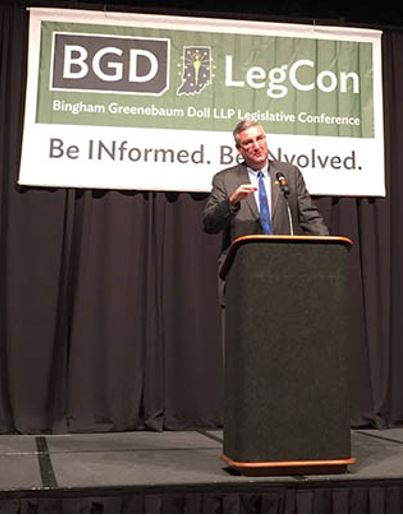 Indiana Gov. Eric Holcomb at BGD LegCong