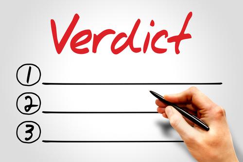 Verdict blank list_ business concept