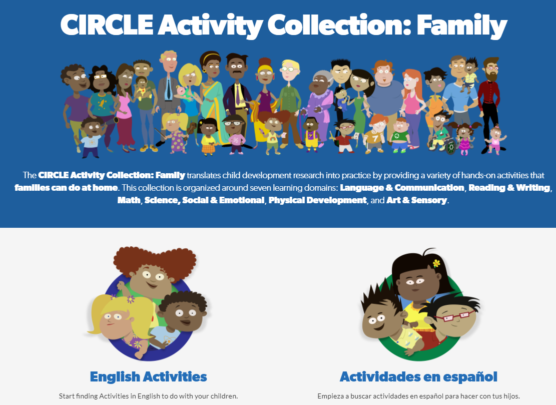 Family CIRCLE Activity Collection webpage