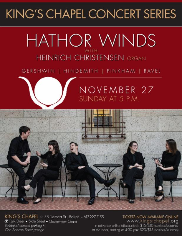 Hathor Winds concert poster