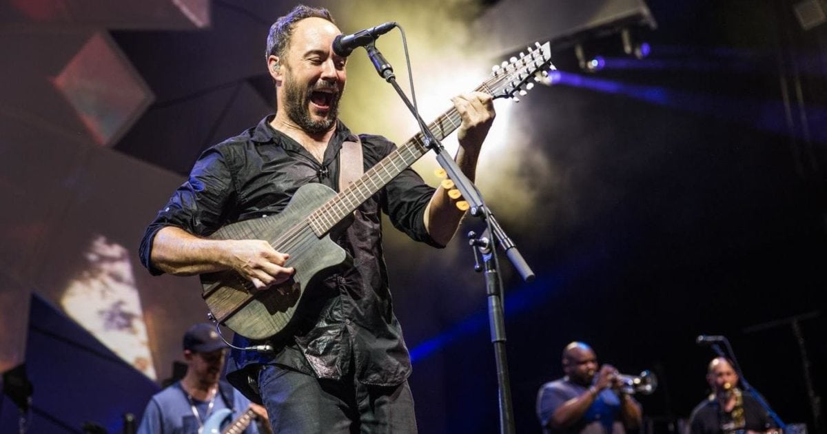 Dave Matthews playing one of his 3 baritone 12 strings