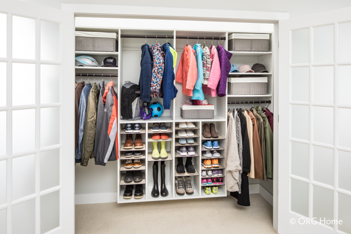 Entryway Closet with Shoe Organizer