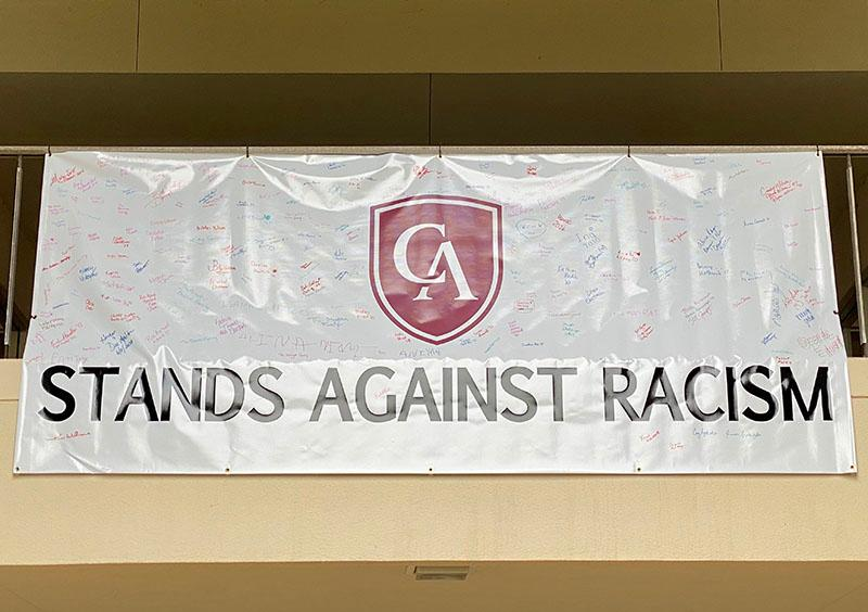Stand Against Racism Banner