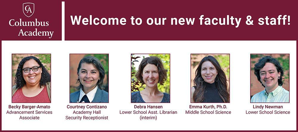 New Faculty/Staff Photos