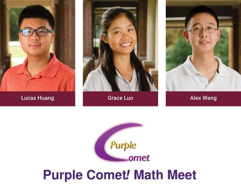 Purple Coment Math Meet Graphic