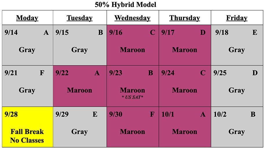50% Hybrid Schedule