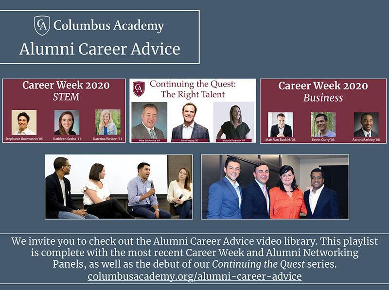 Alumni Career Advice promo