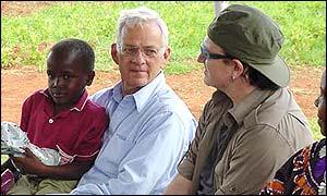 Paul O Neill and Bono BBC News 28 May 2002
