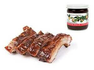 ribs with pear spread