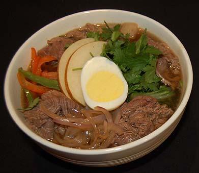 Asian Pear Noodle Bowl