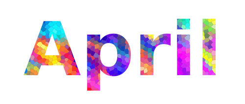 April. Colorful typography text banner. Image the April word design. Can...