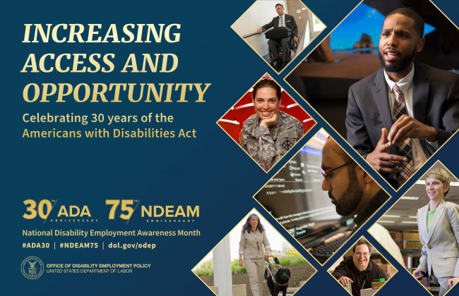 POSTER with images of people Increasing Access and Oppportunity