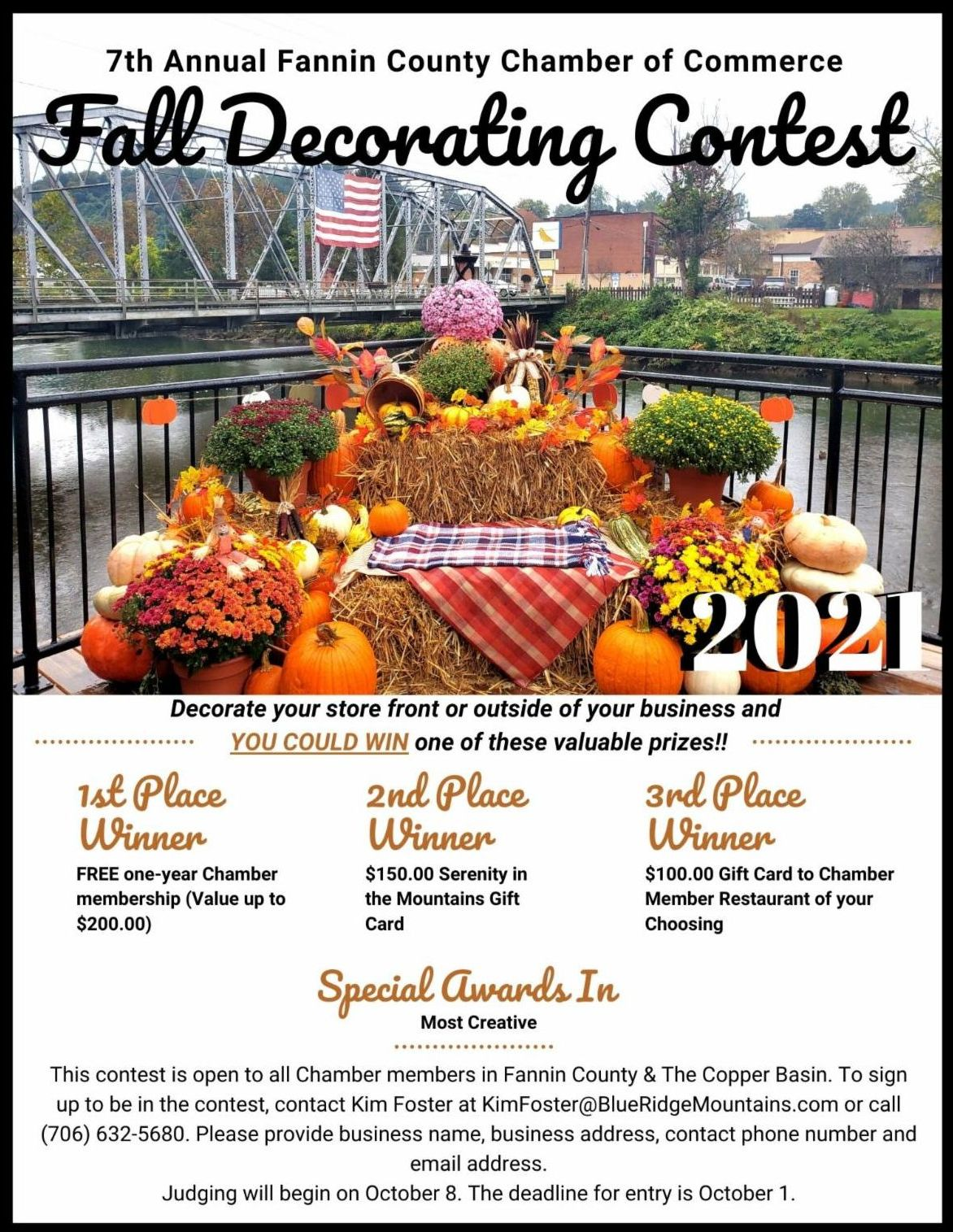 register for the fall decorating contest