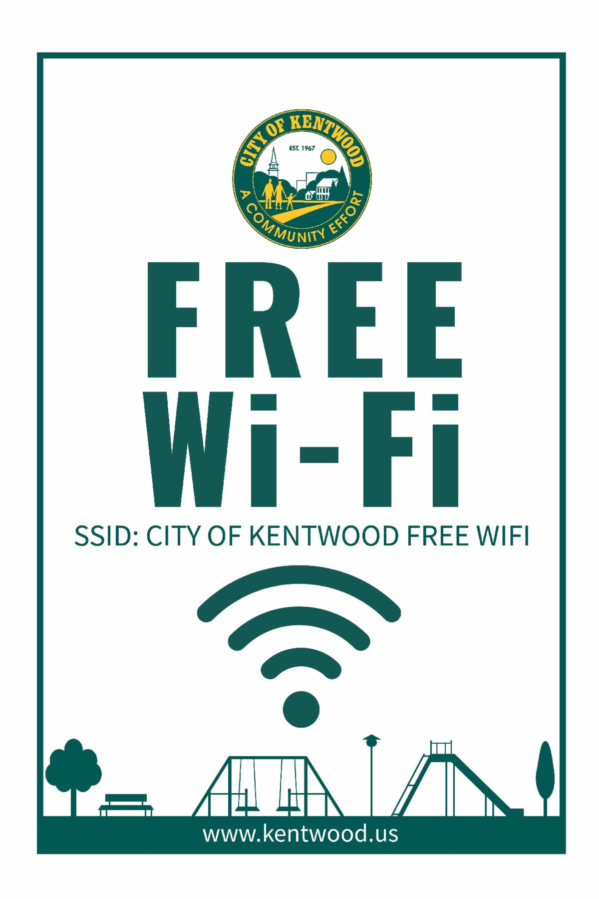 Free Wi-Fi signage for parks