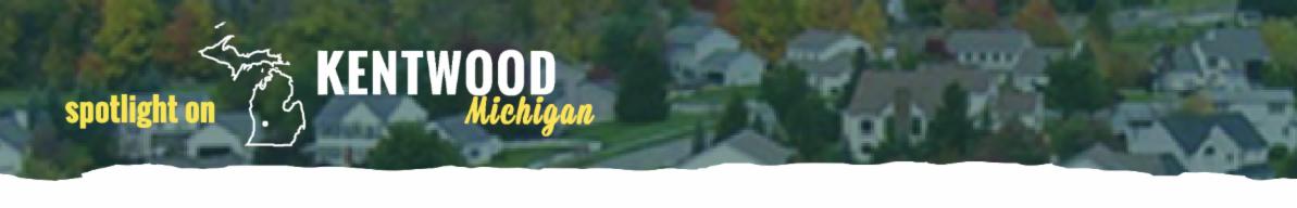 """Spotlight on Kentwood Michigan"" header"