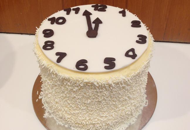 KARA'S clock cake