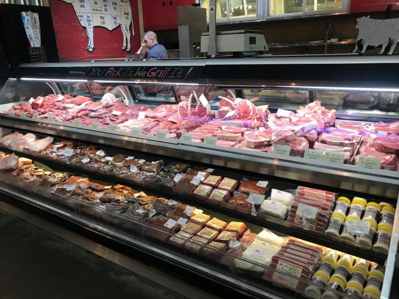 Five Dot meat case