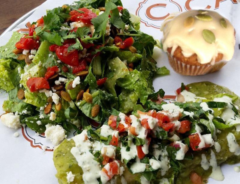 October enchilada plate
