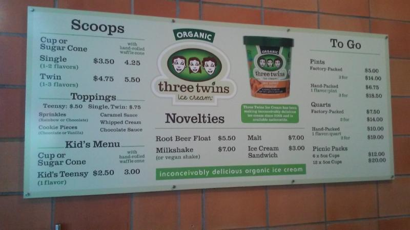 Three Twins Menu