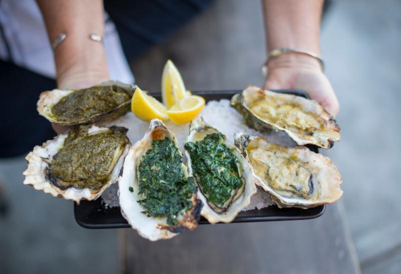 Hog Island green oysters
