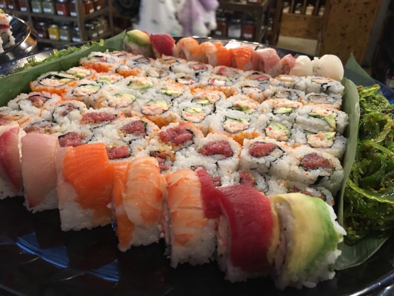 Eiko's sushi platter