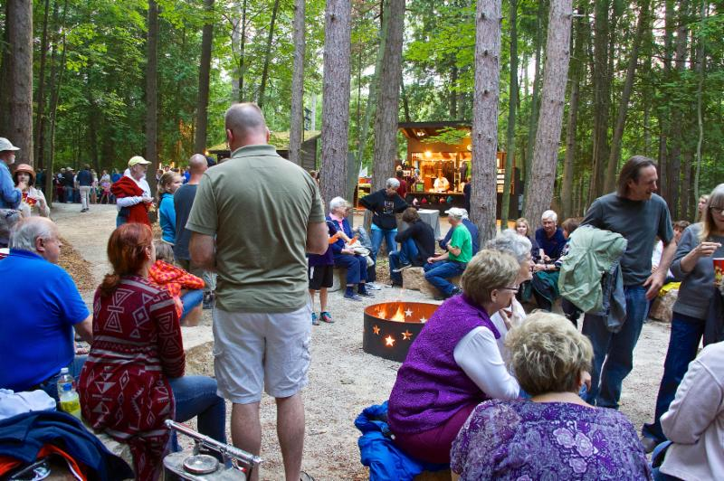 Fire Pit Pre-Show Northern Sky Amphitheater