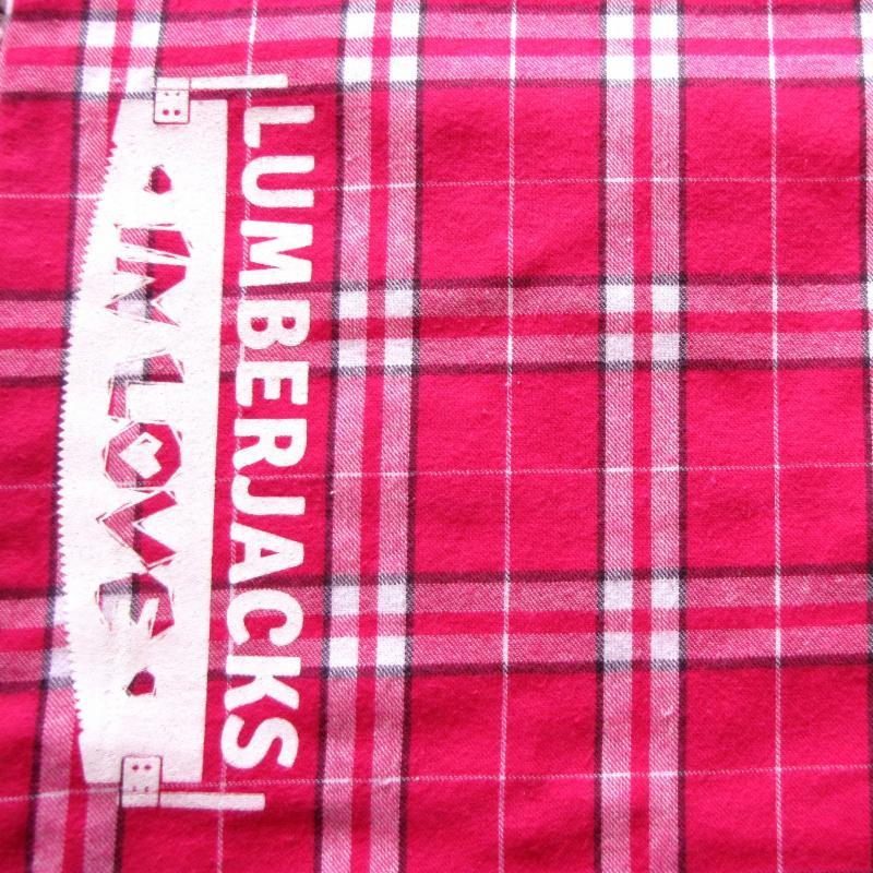 Lumberjacks in Love Pink PJ Pants