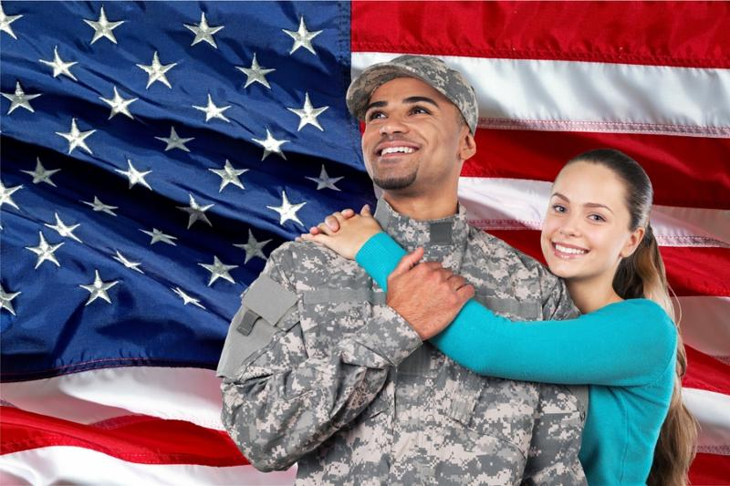 Military Family Armed Forces Army Couple Wife Asian Ethnicity