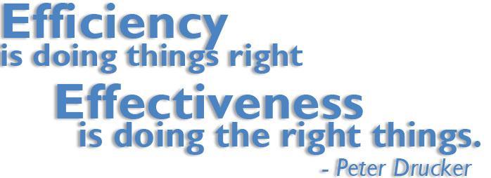 Efficiency vs Effectiveness headling
