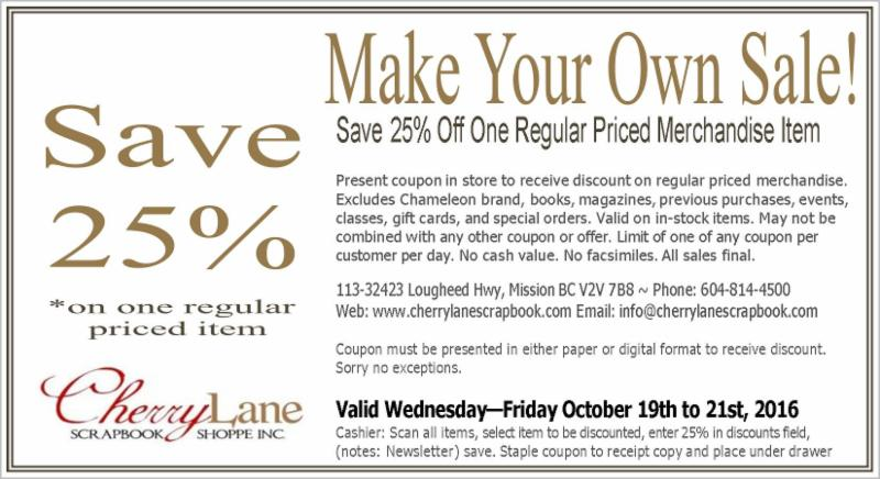 25 coupon make your own sale