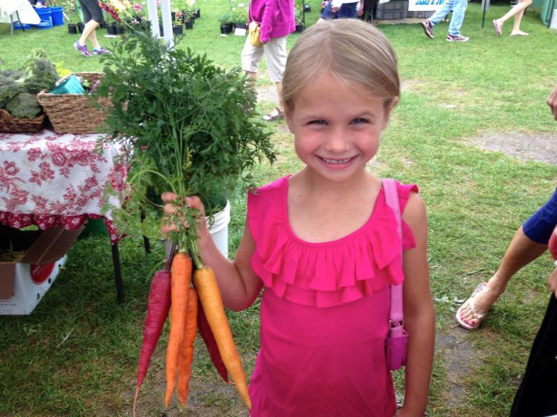 Nickel Holding Rainbow Carrots