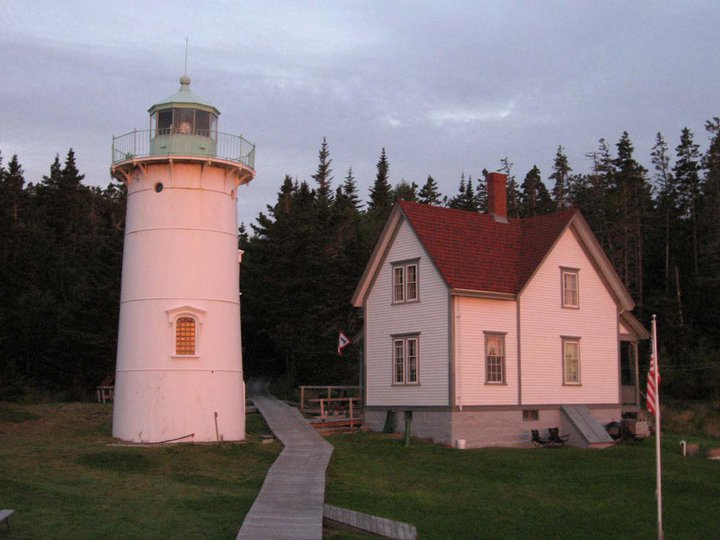 Little River Lighthouse Cutler ME at Sunrise
