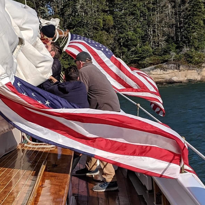 Carol Douglas captures the flags