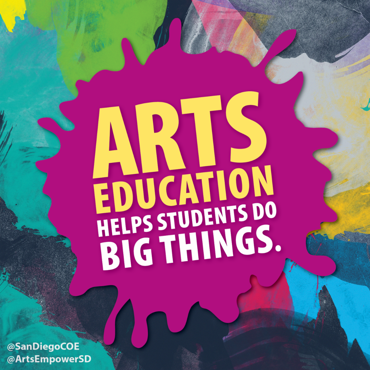 Arts education helps students do big things paint splatter