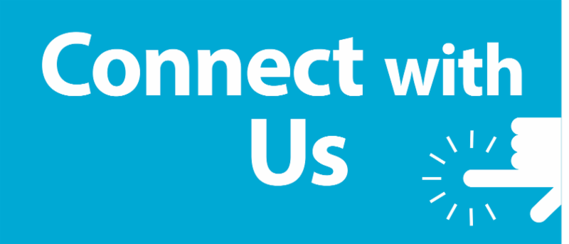 Connect with Us-History Social Science blue banner ad