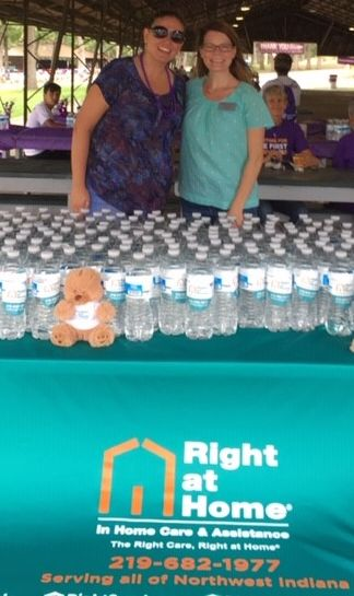 Right at Home Northwest Indiana sponsoring alz walk