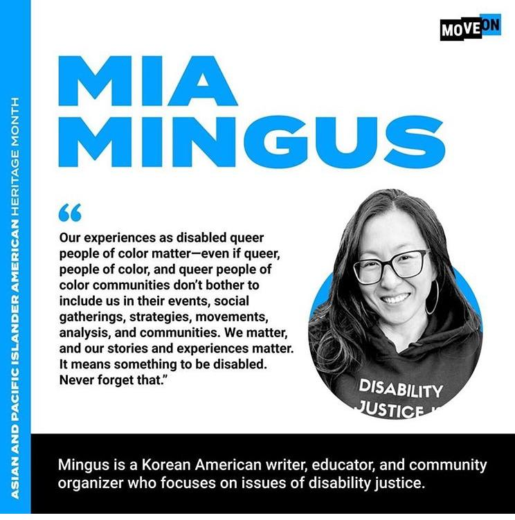 Picture of Mia Mingus - community organizer, writer educator on disability justice