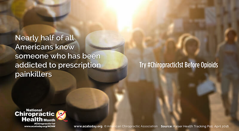 Miller Sports & Wellness invites you to try #Chiropractic1st before Opiods for pain