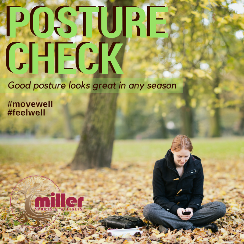 Good posture looks great in any season