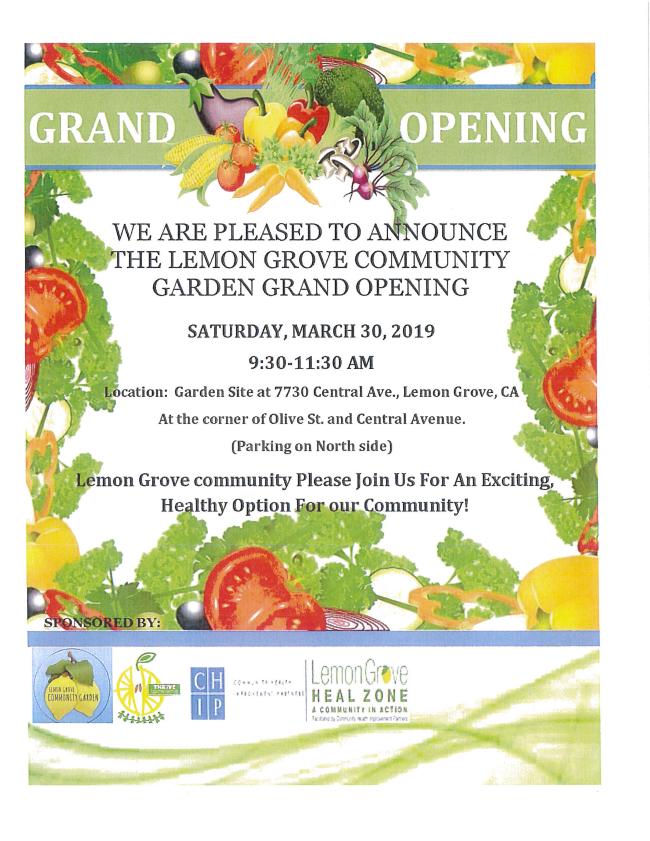 Lemon Grove Community Garden