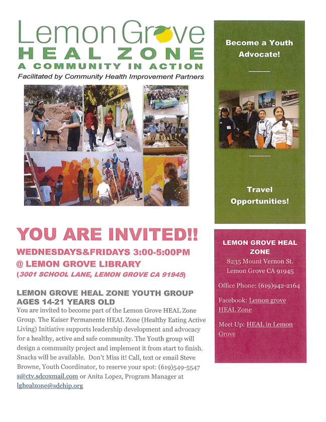 Lemon Grove Heal Zone