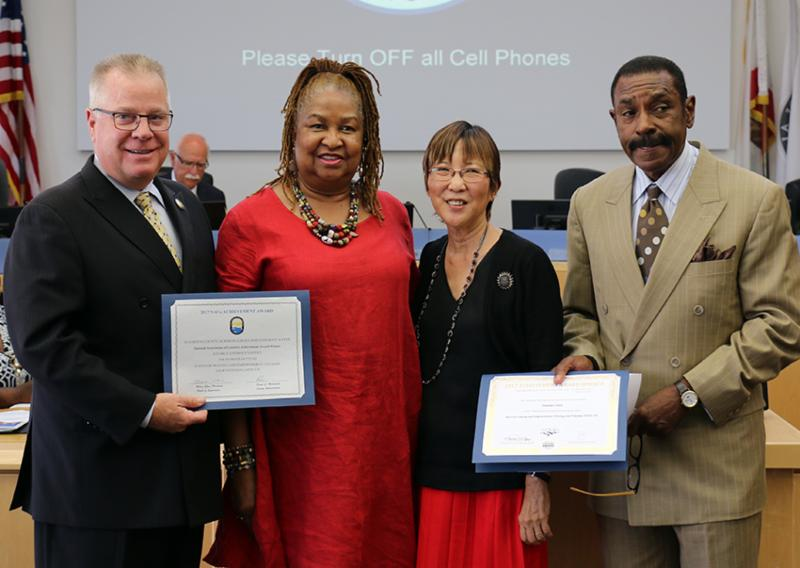 ACFJC Executive Director received two NACO Awards for the DA's Office