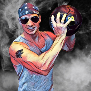 A stylized photo of Steve Caruso.