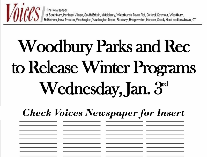 Woodbury Parks and Rec December Newsletter