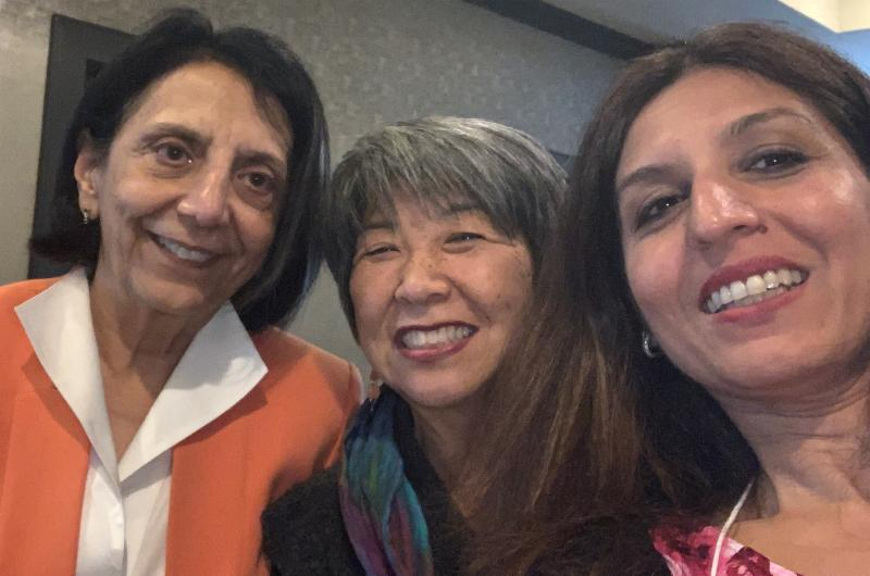 A selfie with three smiling women