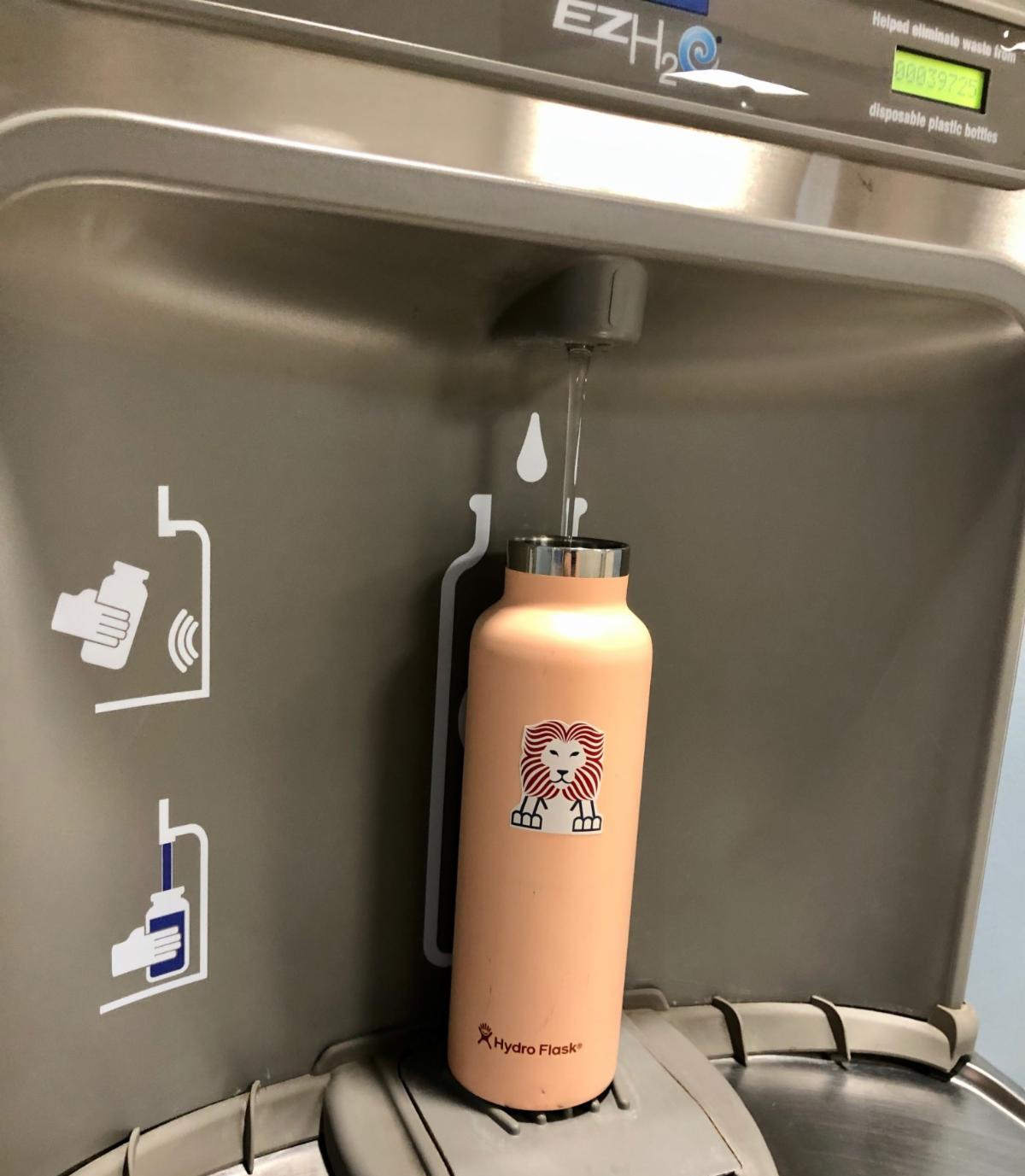 Water bottle filling stations at Meridian