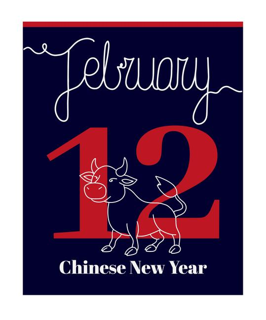 February 12th Chinese New Year of the Ox