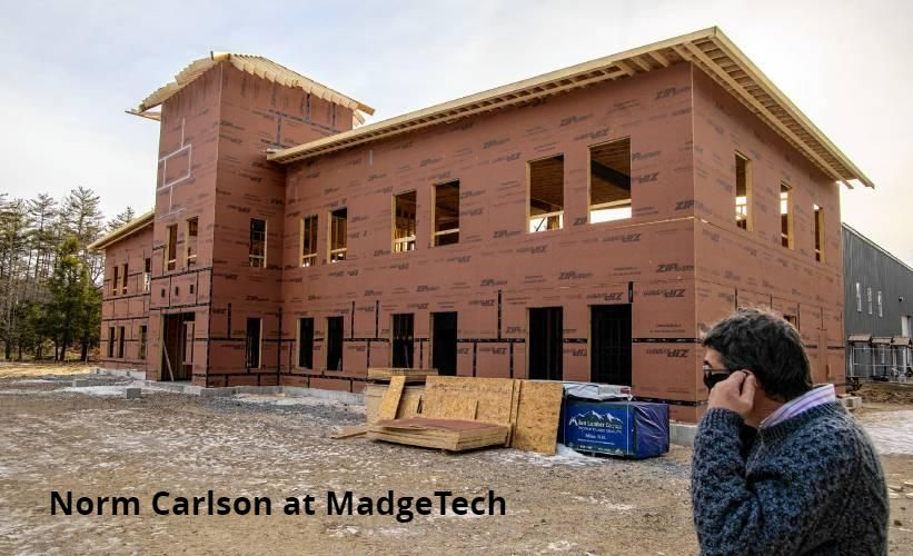 MadgeTech's new expansion under construction near Exit 7 of I-89.