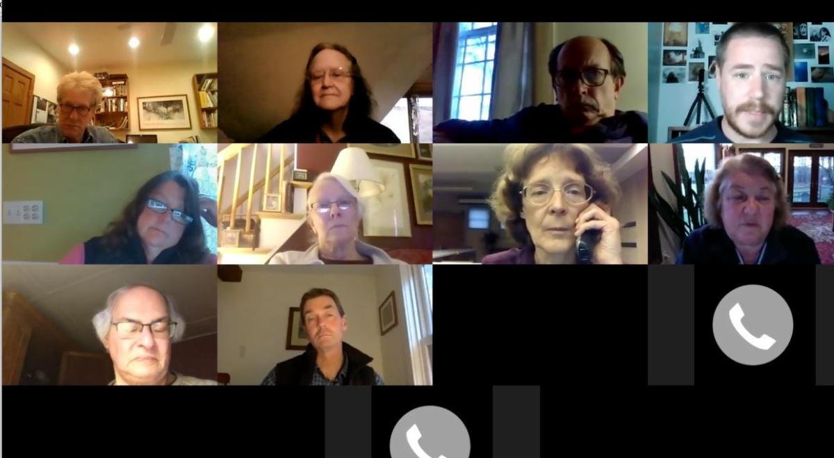 LIbrary Trustees meeting by Zoom.