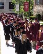 graduates march